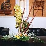 květinová dekorace do konferenční místnosti