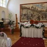květinová výzdoby svatby na Dobříši